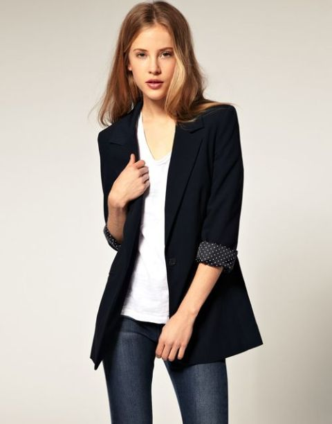 Picture Of Comfortable Fall Outfits With Trendy Long Line Blazers 5