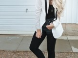 15 Comfortable Fall Outfits With Trendy Long-Line Blazers9