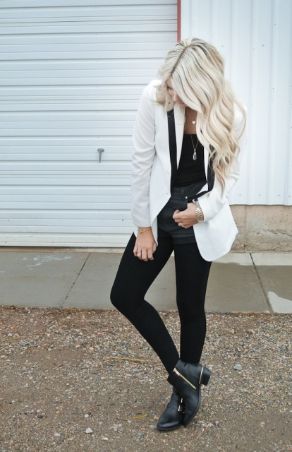 Picture Of Comfortable Fall Outfits With Trendy Long Line Blazers 9