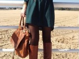 15 Cool Dress And Boots Combinations For Fall13