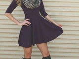 15 Cool Dress And Boots Combinations For Fall14