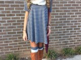 15 Cool Dress And Boots Combinations For Fall15