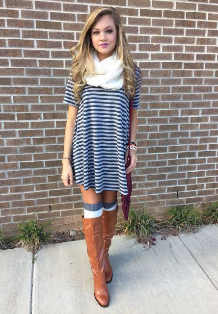 15 Cool Dress And Boots Combinations For Fall - Styleoholic