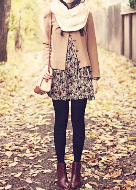 Picture Of Cool Dress And Boots Combinations For Fall 4