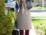 15 Cool Dress And Boots Combinations For Fall9