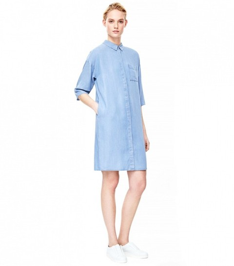 Picture Of Denim Dresses For Girls This Spring 10