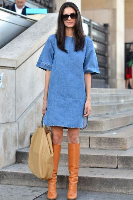Picture Of Denim Dresses For Girls This Spring 13