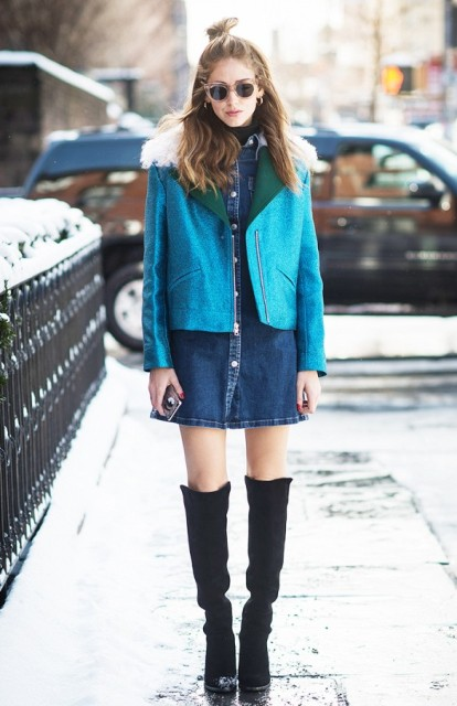 Picture Of Denim Dresses For Girls This Spring 4