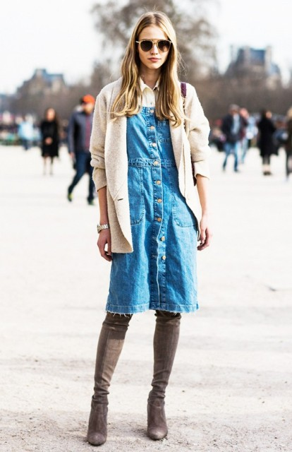 Picture Of Denim Dresses For Girls This Spring 5