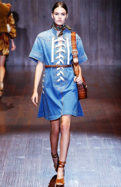 Picture Of Denim Dresses For Girls This Spring 7