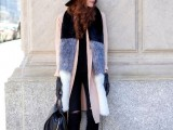 15 Fall Outfit Ideas With Faux Fur Stoles