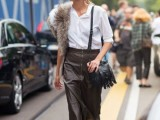 15 Fall Outfit Ideas With Faux Fur Stoles8