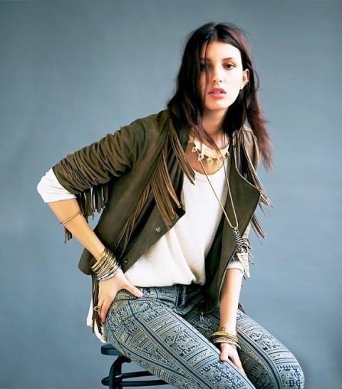 Fringe Western Styled Jackets For Girls