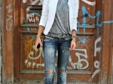 15 Fashionable Casual Fall Outfits With Cropped Jackets10