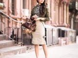 15 Fashionable Casual Fall Outfits With Cropped Jackets11