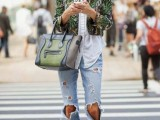15 Fashionable Casual Fall Outfits With Cropped Jackets8