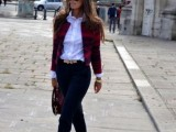 15 Fashionable Casual Fall Outfits With Cropped Jackets9