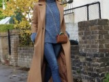 15 Fashionable Outfits With Long Coat For Fall10