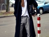 15 Fashionable Outfits With Long Coat For Fall12