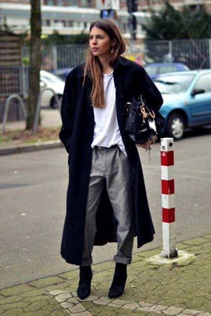 Fashionable Outfits With A Long Coat For This Fall