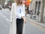 15 Fashionable Outfits With Long Coat For Fall3