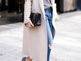 15 Fashionable Outfits With Long Coat For Fall5