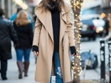 15 Fashionable Outfits With Long Coat For Fall7