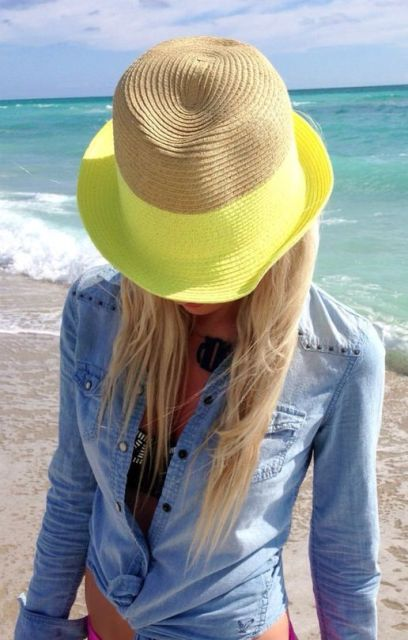 Picture Of Gorgeous Hat Ideas For This Summer 13