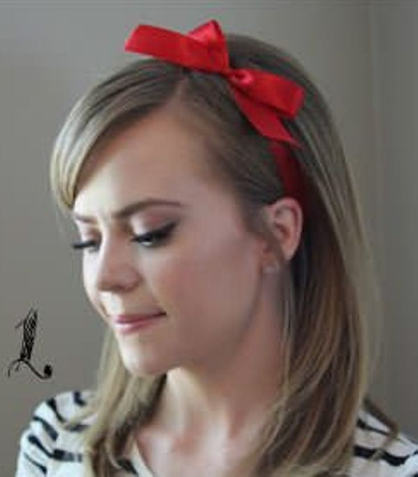 Picture Of Incredibly Easy Hairstyle With Ribbon For Every Day 1