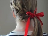 15 Incredibly Easy Hairstyle With Ribbon For Every Day 10