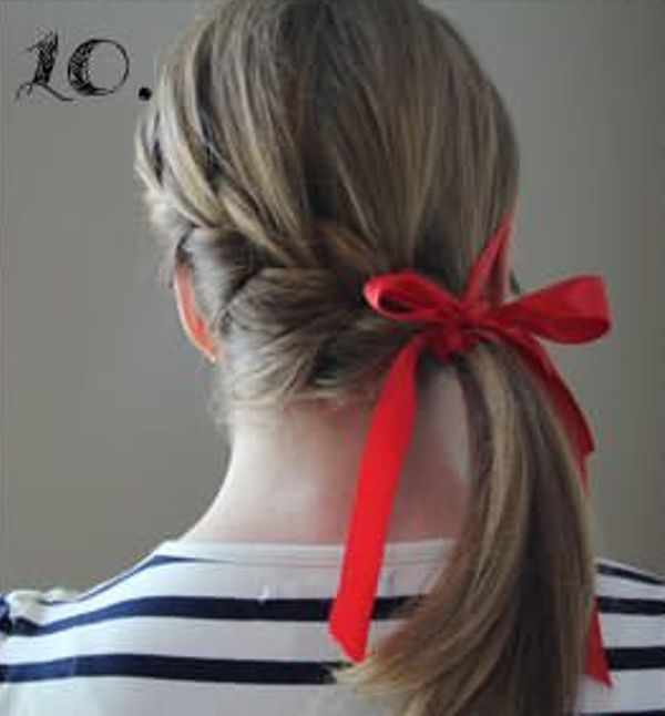 Picture Of Incredibly Easy Hairstyle With Ribbon For Every Day 10