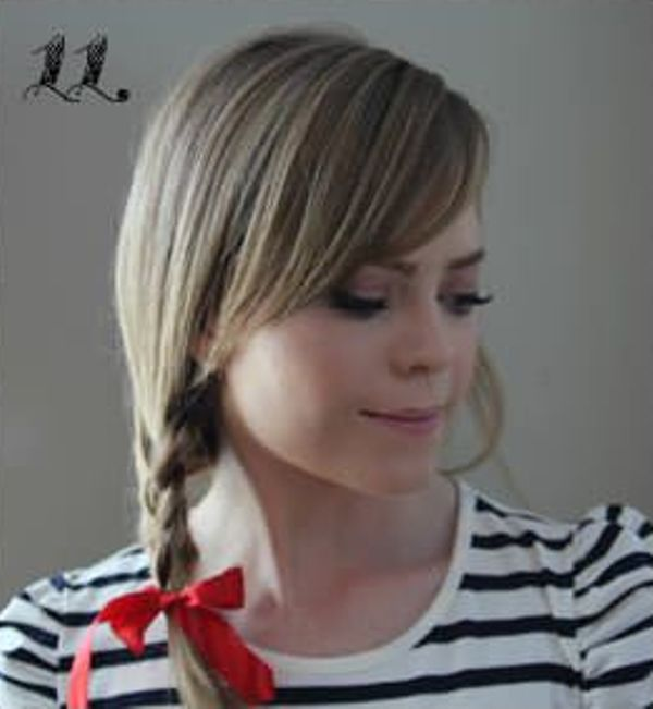 Picture Of Incredibly Easy Hairstyle With Ribbon For Every Day 11