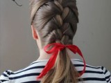 15 Incredibly Easy Hairstyle With Ribbon For Every Day 12