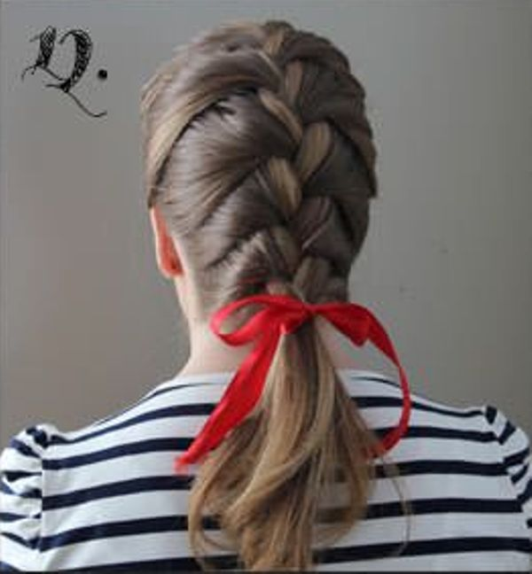 Picture Of Incredibly Easy Hairstyle With Ribbon For Every Day 12