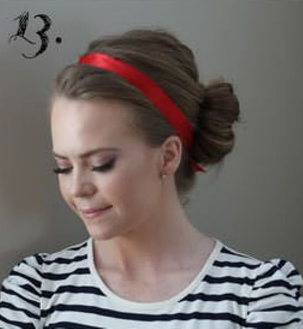Picture Of Incredibly Easy Hairstyle With Ribbon For Every Day 13
