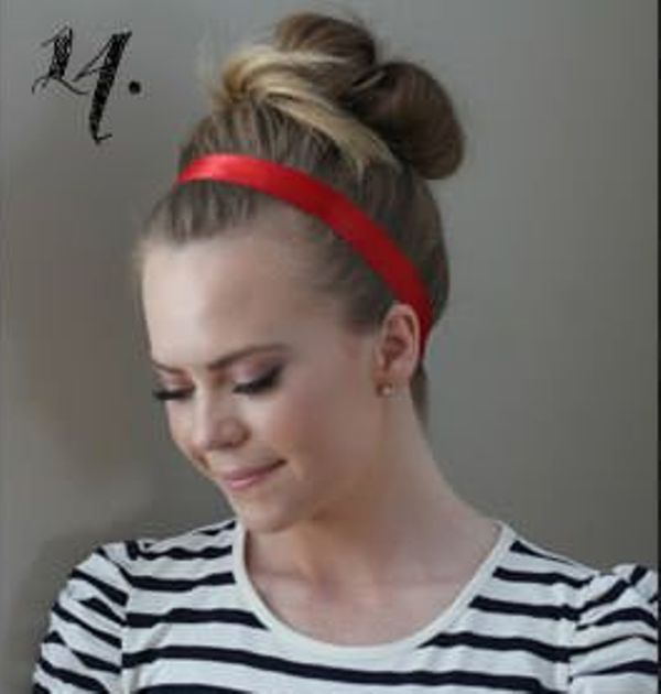 Picture Of Incredibly Easy Hairstyle With Ribbon For Every Day 14