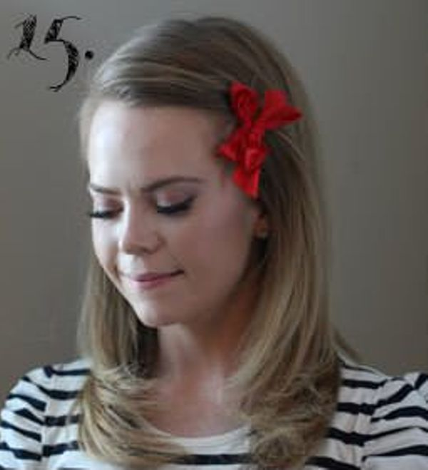 Picture Of Incredibly Easy Hairstyle With Ribbon For Every Day 15