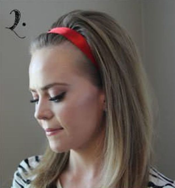 Picture Of Incredibly Easy Hairstyle With Ribbon For Every Day 2