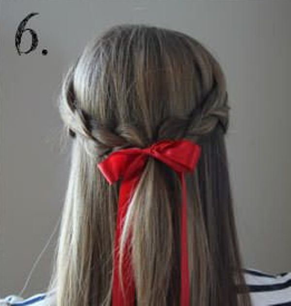 Picture Of Incredibly Easy Hairstyle With Ribbon For Every Day 6