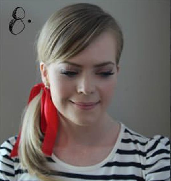 Picture Of Incredibly Easy Hairstyle With Ribbon For Every Day 8