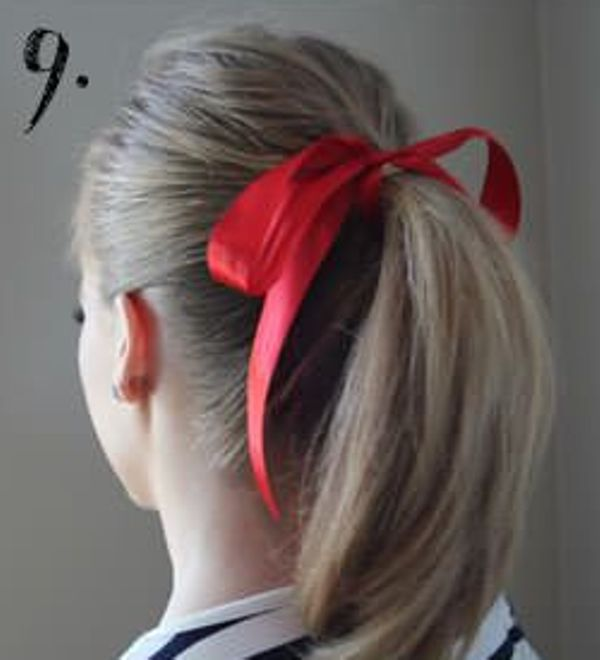 Picture Of Incredibly Easy Hairstyle With Ribbon For Every Day 9