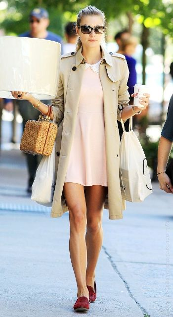Perfect Fall Outfits With Nude Trench Coat
