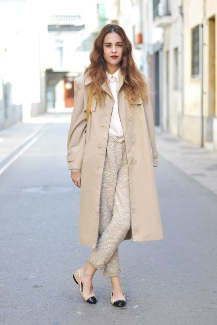 15 Perfect Fall Outfits With A Nude Trench Coat