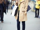 15 Perfect Fall Outfits With Nude Trench Coat5