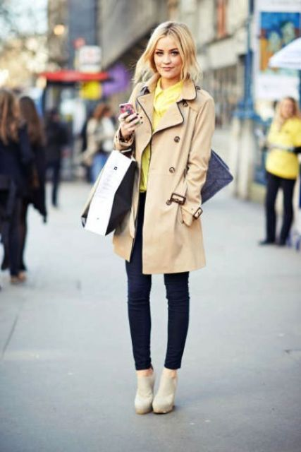 Picture Of Perfect Fall Outfits With Nude Trench Coat 5