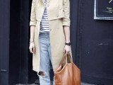 15 Perfect Fall Outfits With Nude Trench Coat6