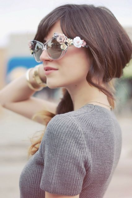 15 Romantic Flower Sunglasses For Summer