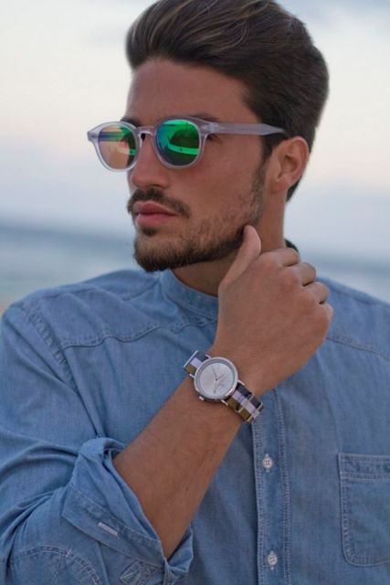 Trendy Mirrored Sunglasses For Men