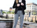 15 Ways To Wear Checked Clothes At Office3