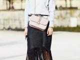 15 Ways To Wear Fringe Skirts Right This Season